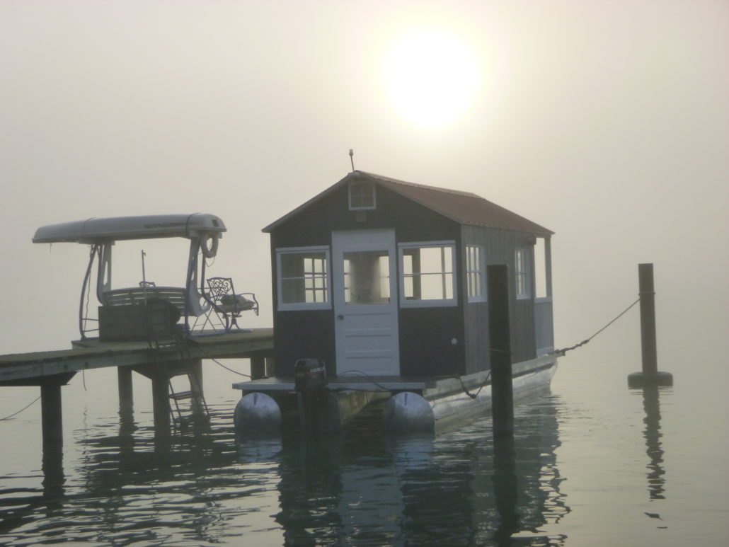 Morning mist at the dock