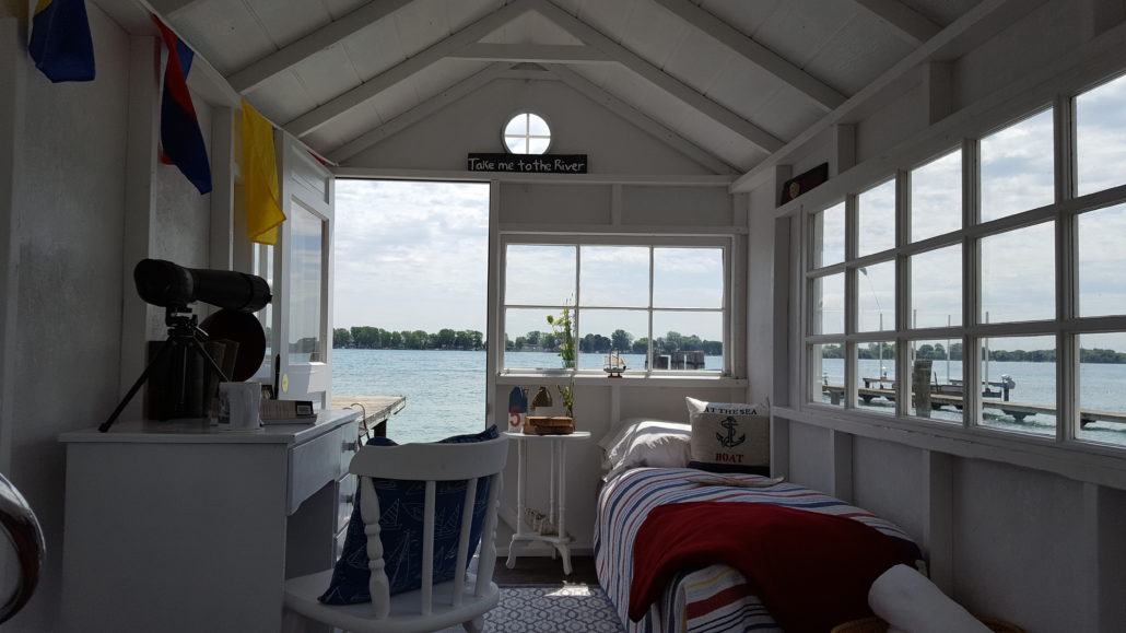 Waterfront bedroom
